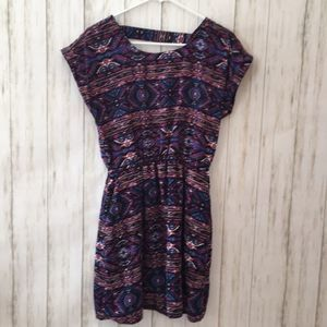 Multicolor tribal summer dress with pockets